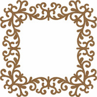 Frame Square Lace - Chipboard Embellishment