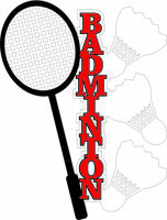 Badminton - Laser Die cut