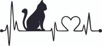 Heartbeat Cat - Laser Die Cut