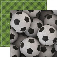 Soccerballs - 12 x 12 Double Sided Paper