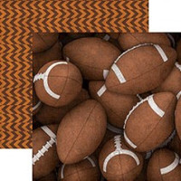Footballs - 12 x 12 Double Sided Paper