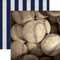 Baseballs - 12 x 12  Double Sided Paper
