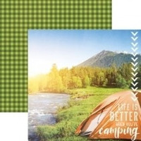 Better When Camping - 12 x 12 Double Sided Paper
