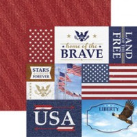 Home of Brave Tags - 12 x 12 Double Sided Paper