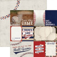 Baseball Tags - 12 x 12 Double Sided Paper
