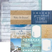 Beach Tags - 12 x 12 Double Sided Paper