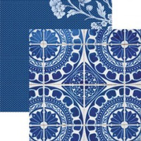 Sapphire Spanish Tiles - 12 x 12 Double Sided Paper