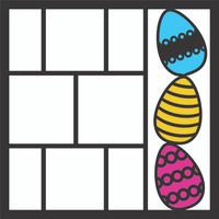 Easter Eggs Pg 2 OL - 12 x 12 Scrapbook OL