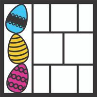 Easter Eggs Pg 1 OL - 12 x 12 Scrapbook OL