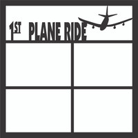 1st Plane Ride Pg 1 - 12x12 Scrapbook OL