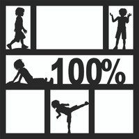 100% Boy - 12 x 12 Scrapbook OL