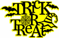 Trick or Treat Web- Laser Die Cut