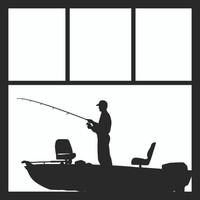 Bass Boat 1 Man - 12 x 12 Scrapbook OL