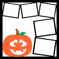 Trick or Treat 2 Pg 2 - 12 x 12 Scrapbook OL