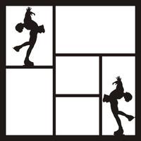 Figure Skating Pg 2 - 12 x 12 Scrapbook OL