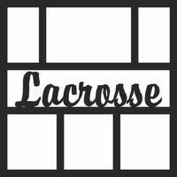 Lacrosse Title Pg 1 - 12 x 12 Scrapbook OL