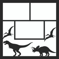 Dinosaurs Pg 2 - 12 x 12 Scrapbook OL