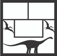 Dinosaurs Pg 1 - 12 x 12 Scrapbook OL
