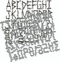 Dies ... to die for metal cutting die -  Evins Alphabet- Log Stick Font