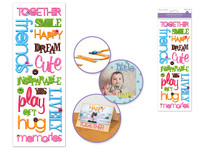 Paper Craft Stickers: 11.5cmx32cm Puffy SentimentsTOGETHER