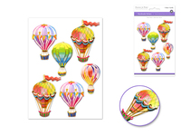 "Handmade Sticker: 4.37""x6.37"" 3D Big Icons UP, UP & AWAY"