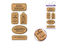 "Handmade Sticker: 3""x6.5"" 3D Paper Inspirational Kraft Tags YOUR LIFE IS YOUR MESSAGE"