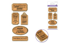 "Handmade Sticker: 3""x6.5"" 3D Paper Inspirational Kraft Tags DON'T STOP"