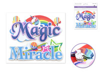 "Handmade Sticker: 6""x 5"" 3D Word Art MAGIC/MIRACLE"