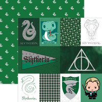 Harry Potter Slytherin Tag Double Sided Foil Scrapbook Paper