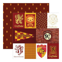 Harry Potter Gryffindor Double Sided Foil Scrapbook Paper 12 x 12
