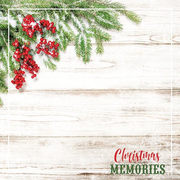 Christmas Memories.Christmas Memories 12 X 12 Double Sided Scrapbook Paper