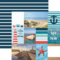 East Coast Tags 12 x 12 Double Sided Scrapbook Paper
