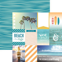 West Coast Tags 12 x 12 Double sided Scrapbook Paper