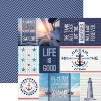 Nautical Tags 12 x 12 Double Sided Scrapbook Paper