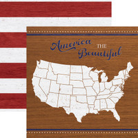 America the Beautiful 12 x 12 Double Sided Scrapbook Paper