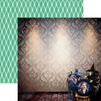 Wizard of Oz Crystall Ball 12 x 12 Double Sided Scrapbook Paper