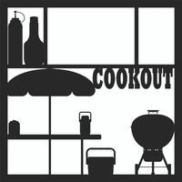 Cookout Pg 1 - 12 x 12 Scrapbook OL