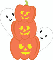 Happy Pumpkins Happy Ghosts - Laser Die Cut