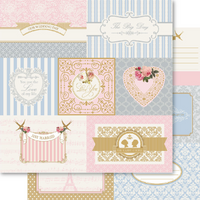 "Bella  My Romance Paper Double Sided ""Snippets"" - GORGEOUS"