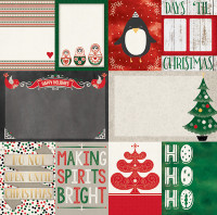 "Bo Bunny 12 x 12  Double Sided Paper - ""Merry & Bright"""