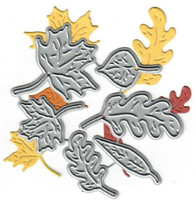 Dies...to die for metal cutting craft die - Fall Leaves set - Leaf Maple Oak
