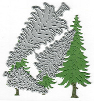 Dies...to die for metal cutting craft die - Pine trees - Wooodands tree