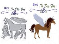 Dies ... to die for metal cutting craft die Enchanted Horse Unicorn Pegasus