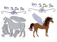 Dies ... to die for metal cutting craft die Enchanted Horse Unicorn Pegasus