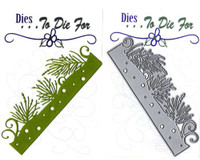 Dies...to die for metal cutting craft die-  Pine & Snow border -winter outdoors