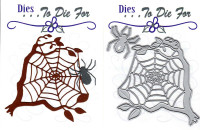 Dies...to die for metal cutting craft die - Spider and Tree Web