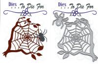 Dies...to die for metal cutting craft die - Spider and Tree Web