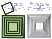 Dies to die for metal cutting craft die -  Small Stitched Nesting Squares