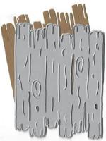 Dies...to die for metal cutting craft die - Driftwood Background Plate - Wood