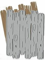 Dies...to die for metal cutting craft die - Driftwood Background Plate - Wood
